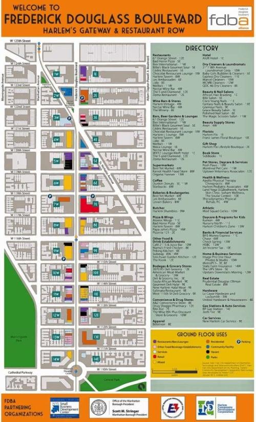 Harlem Nyc Map.Harlem S Restaurant Row Frederick Douglass Blvd Has Its Own Map