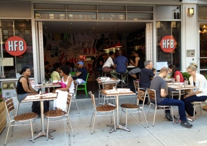Harlem food bar adds sidewalk seating harlemgal inc for Food bar harlem