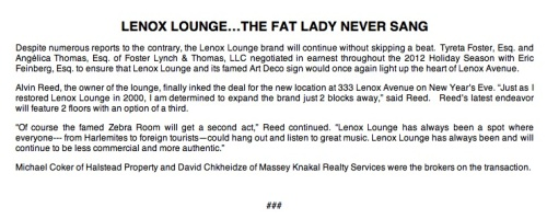Lenox Lounge Statement 010313